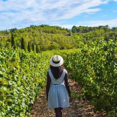 Nath pendant le Haut Lirou Wine Tour - Saint Jean de Cuculles, France
