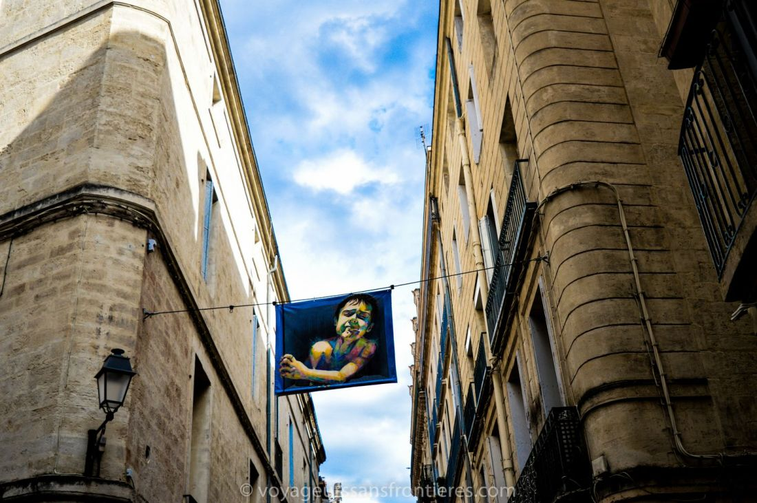 Art pieces in the streets of the Ecusson - Montpellier, France