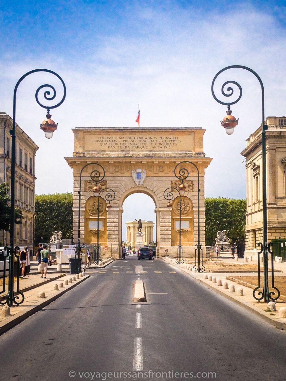 L'Arc de Triomphe - Montpellier, France