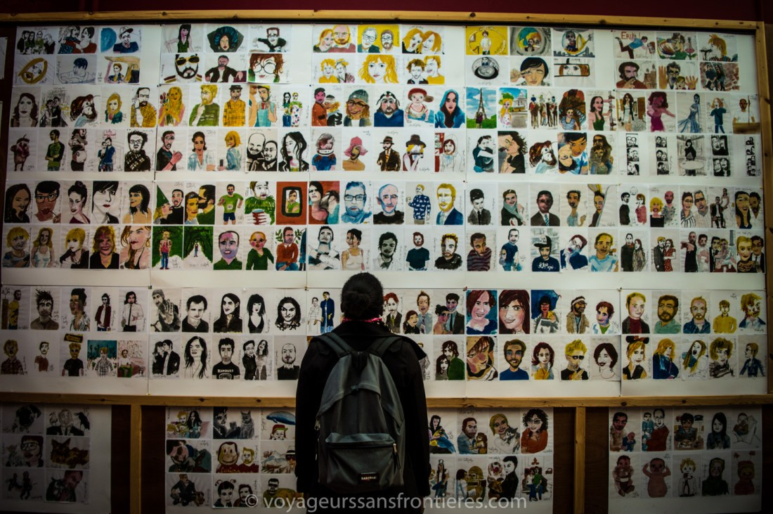 The 1000 portraits gallery - Roubaix, France