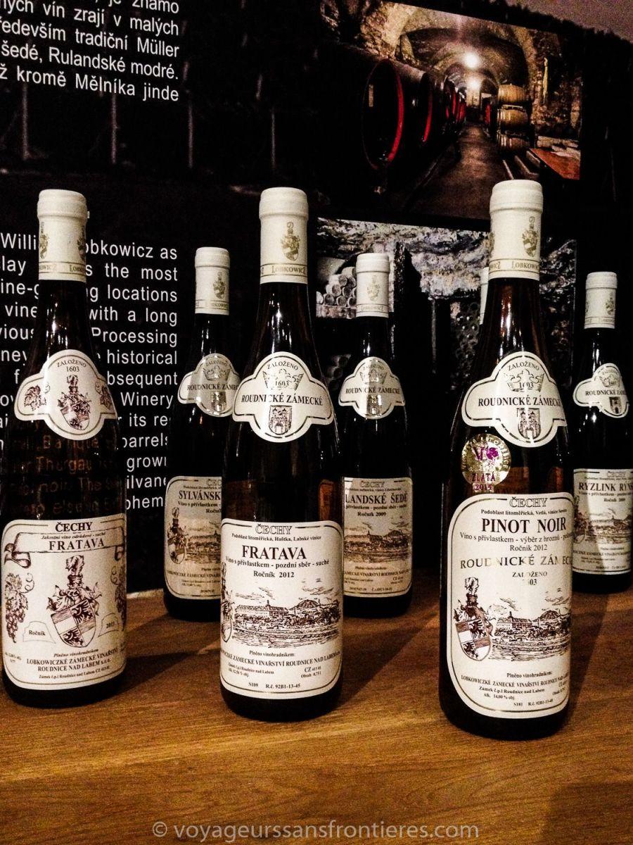 Dégustation de vin à Litomerice - Bohème du Nord, République Tchèque