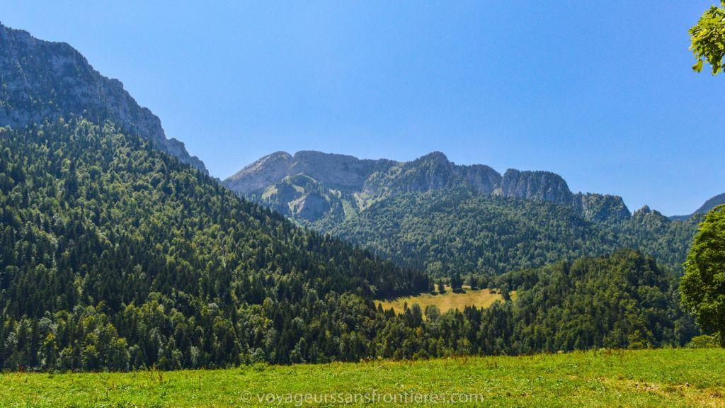 Joli paysage de montagne - Saint-Pierre-de-Chartreuse, France