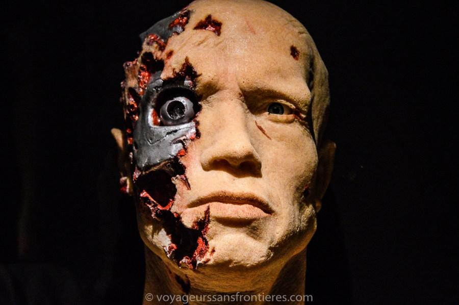 Masque de Terminator au Musée Miniature et Cinéma - Lyon, France