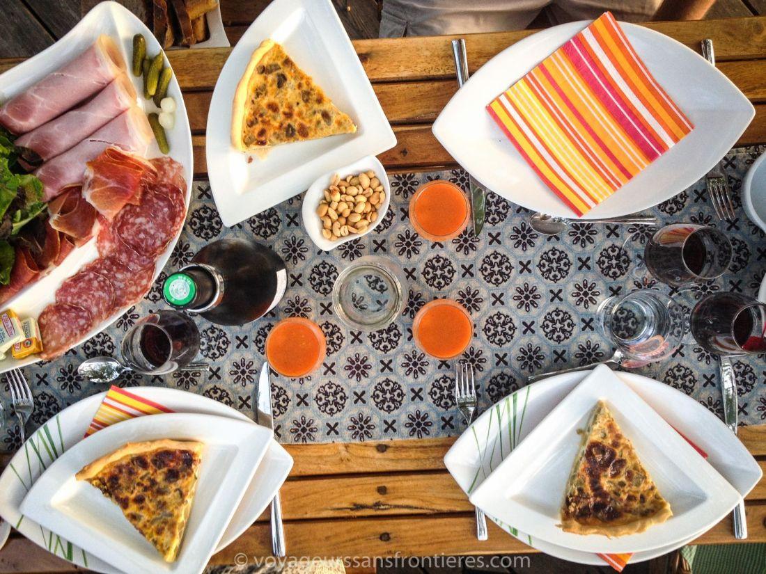 Delicious country style dinner at Somnidsphère - Saint Geoire en Valdaine, France
