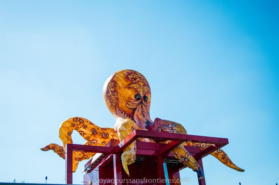 A giant octopus at la Villette - Paris, France