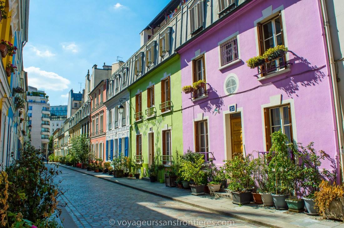 The rue Crémieux - Paris, France