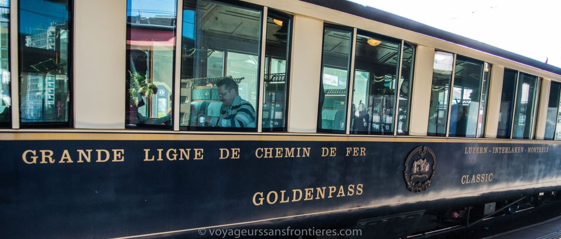 The Train du Fromage at the train - Montreux, Switzerland