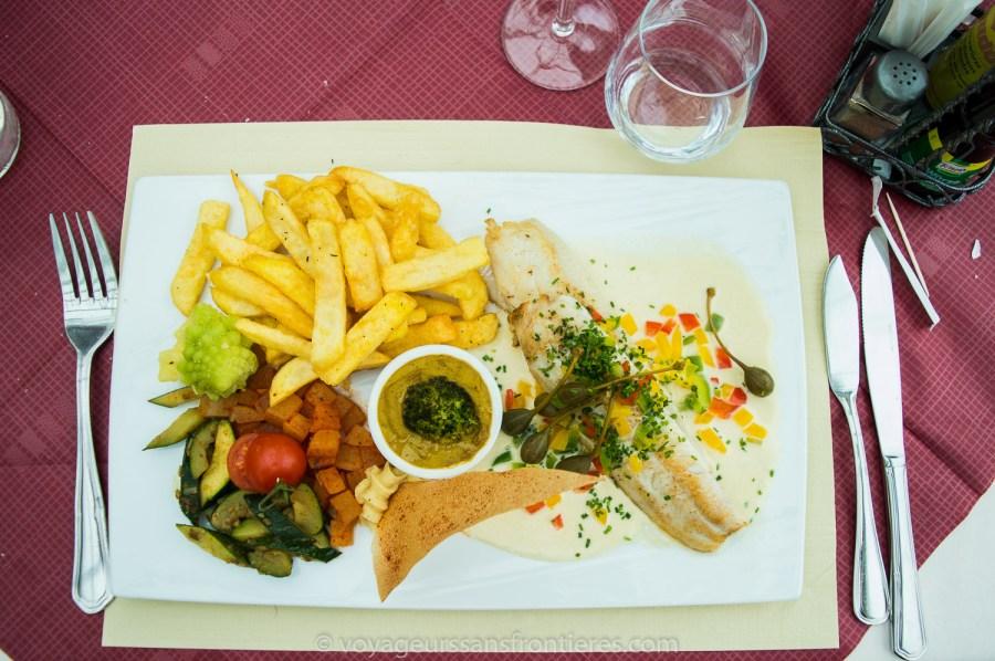 Palée du lac de Joux à la grenobloise at the Hotel-Restaurant Bellevue - Vallée de Joux, Switzerland
