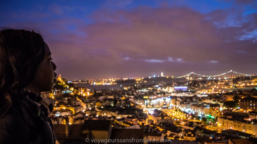 Beautiful view over Lisbon from the Miradouro Senhora do Monte - Portugal