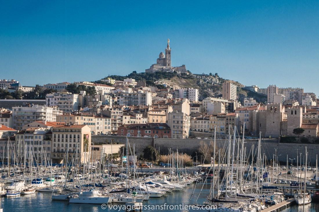 View on Notre Dame de la Garde - Marseille, France