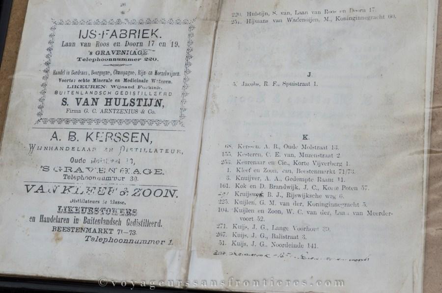 Le tout premier annuaire de La Haye - Van Kleef, Pays-Bas