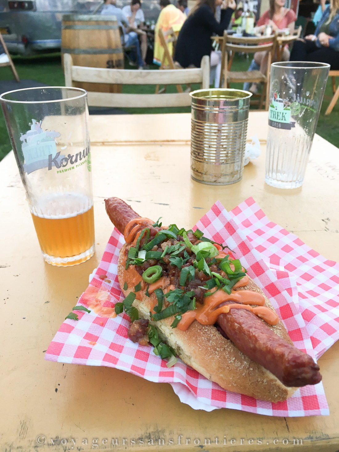 Red Dog Society hot dog at the TREK Festival - The Hague, Netherlands