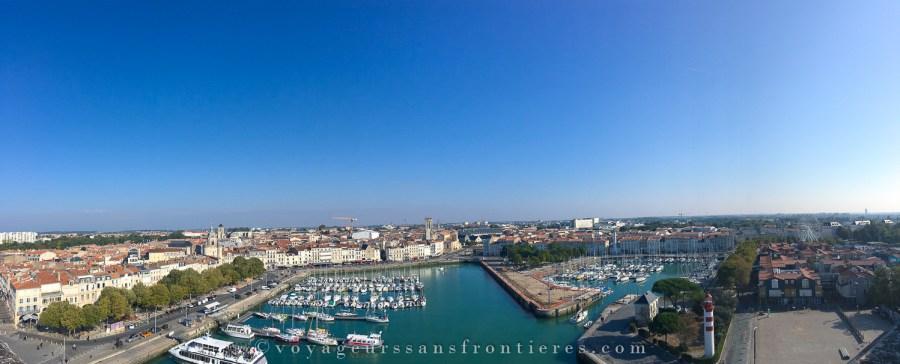 Panorama depuis la Tour Saint Nicolas - La Rochelle, France