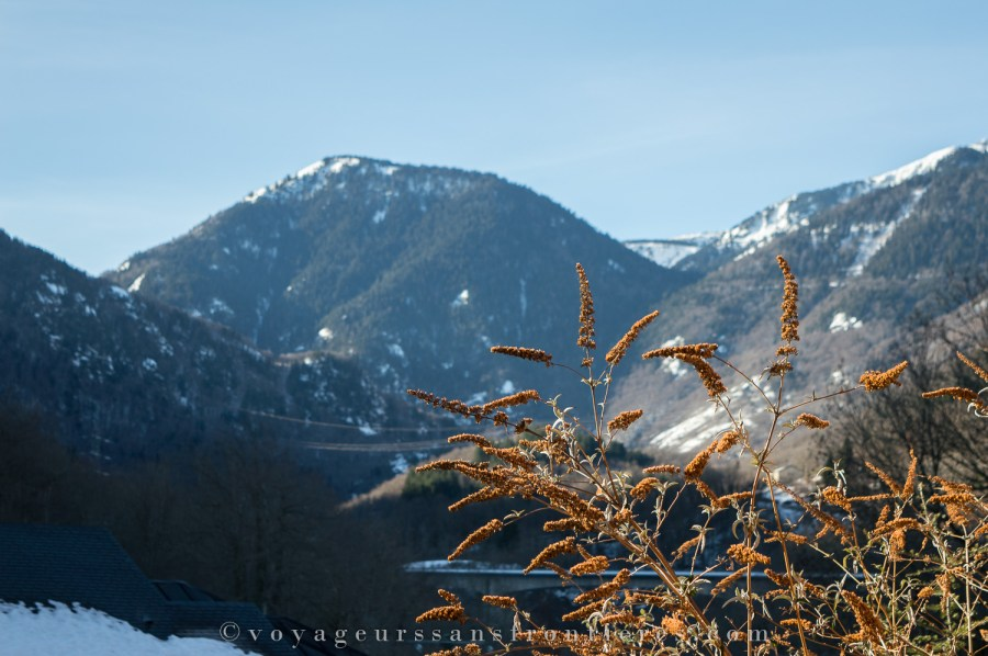 View over the Pyrenees from the terrace of our apartment at the Domaine de la Vallée d'Ax - Ax-les-Thermes, France
