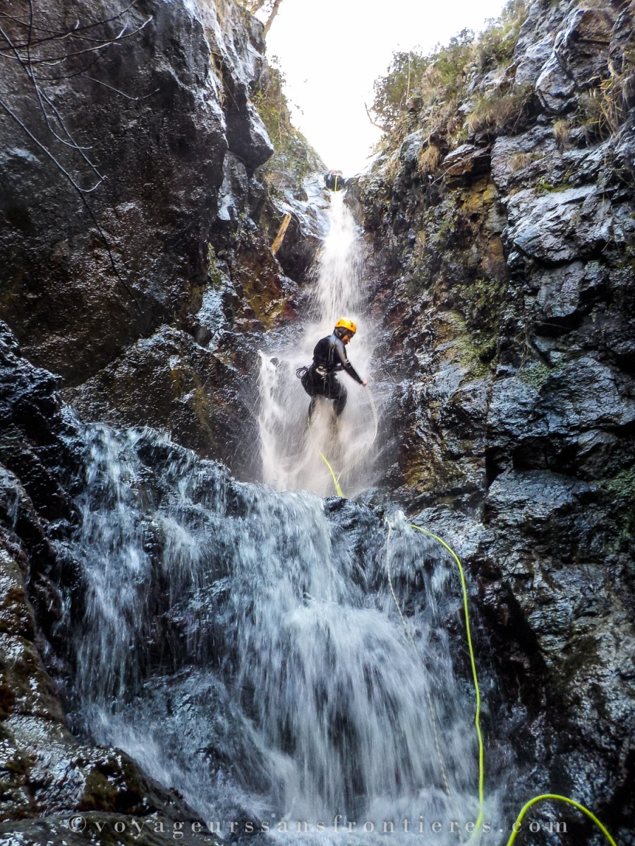 Canyoning in the Thuès canyon with Oxygen Aventure - Pyrenees, France