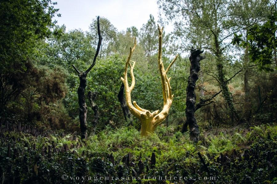 L'arbre d'or - Forêt de Brocéliande, France