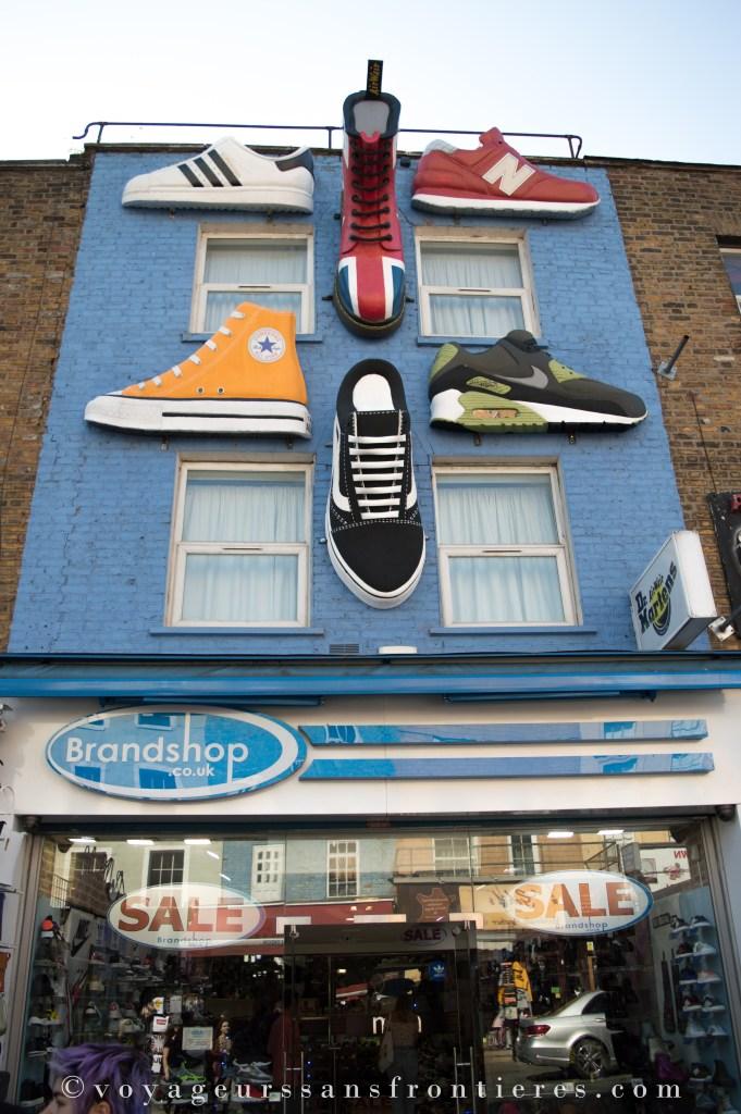 Devanture d'un magasin à Camden Market - Londres, Angleterre
