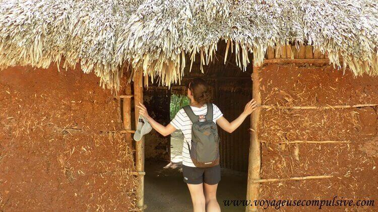 L'entrée d'une petite cabane Mayas à Chichen Itzá
