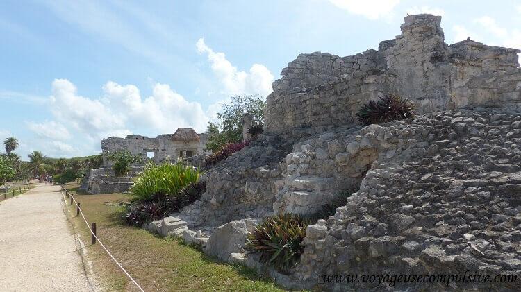 Au cœur des ruines Mayas du site archéologique de Tulum.