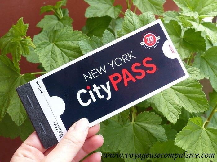 Carnet du New York City Pass qui propose plusieurs lieux à visiter lors d'un voyage à New York.