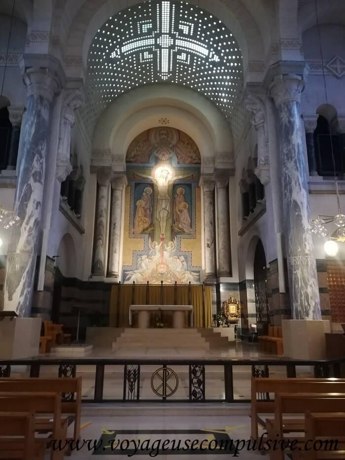 L'intérieur de la Basilique de la Visitation à Annecy.