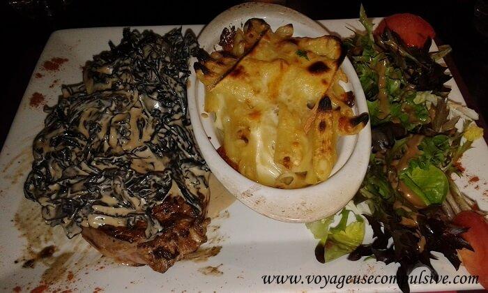 Assiette au restaurant Le Rital dans la vieille ville d'Annecy