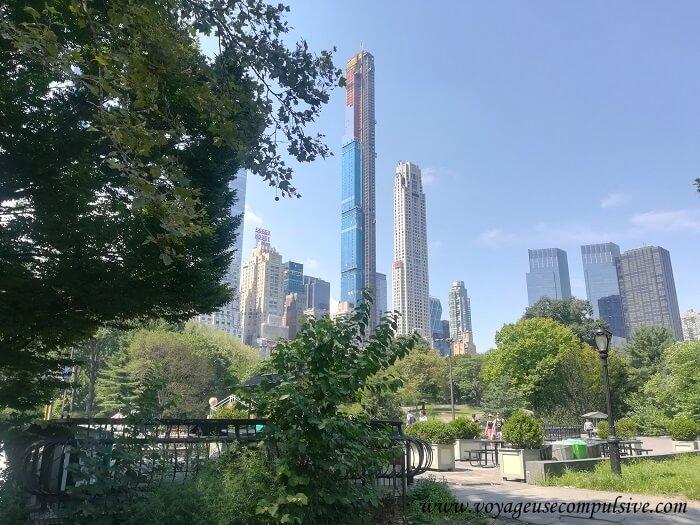 Vue sur les Buildings qui entourent Central Park