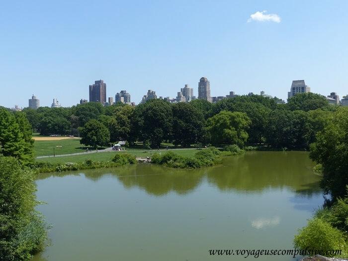 Vue sur Central Park depuis Belvedere Castle