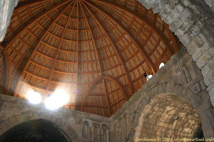 Inside The Wooden Dome Of The Umayyad Palace Amman Citadel Amman Jordan