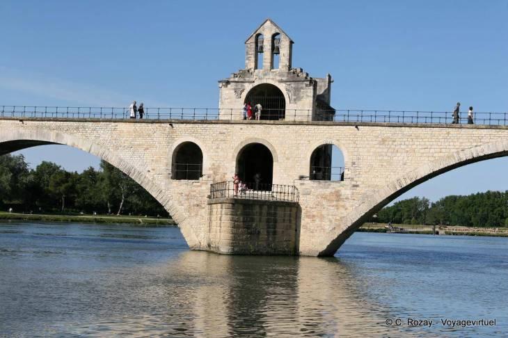 Puente de Aviñón, en el segundo arco se construye St. Benezet ...
