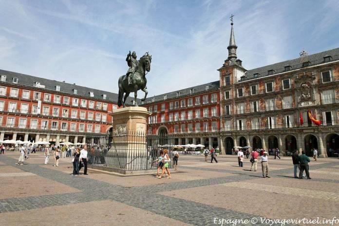 Resultado de imagen para Fotos de la Plaza Mayor de Madrid (España)