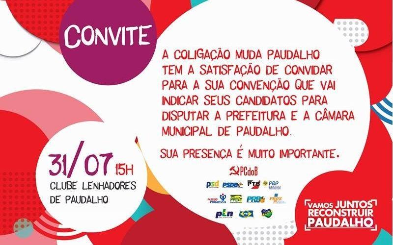 Marcelo Gouveia terá candidatura a prefeito de Paudalho oficializada na tarde deste domingo (31)