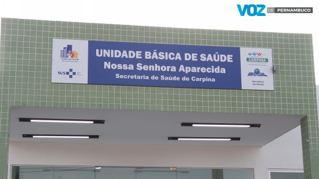 UBS Nossa Senhora Aparecida foi inaugurada em Carpina