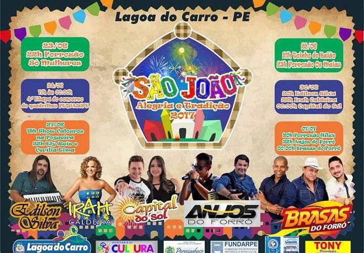 Em Lagoa do Carro, prefeitura anuncia programação oficial do São João 2017