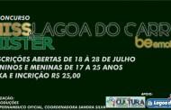 Concurso escolherá o mister e a miss Lagoa do Carro 2017