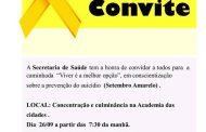 """Secretaria de saúde de Lagoa do Carro realizará caminhada """"Viver é a melhor opção"""""""
