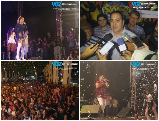 Segunda noite da Festa de São João em Carpina tem Joelma animando o público e governador Paulo Câmara vaiado