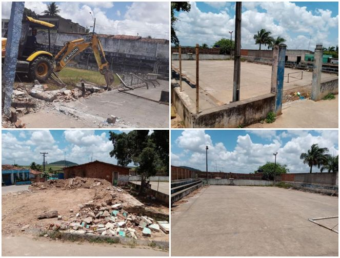 Espaços para esportes e lazer estão sendo construídos e revitalizados em Tracunhaém