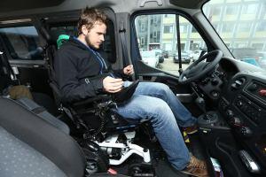 upravené Opel Movano pre invalidný vozík