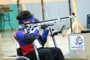 Veronika Vadovičová strelba na invalidnom vozíku