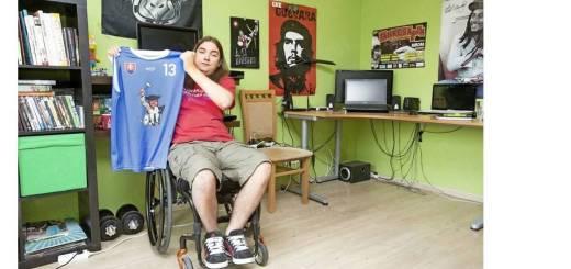 ragbista na invalidnom vozíku