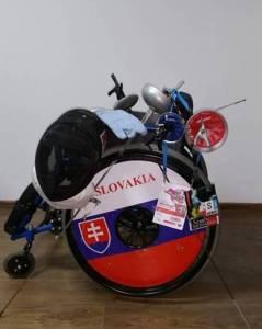 šerm na vozíku - výstroj