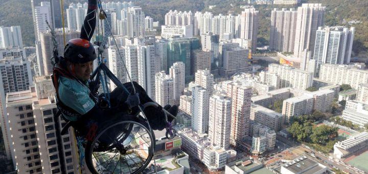 vozickar na mrakodrape