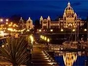 Victoria City, B.C. at night