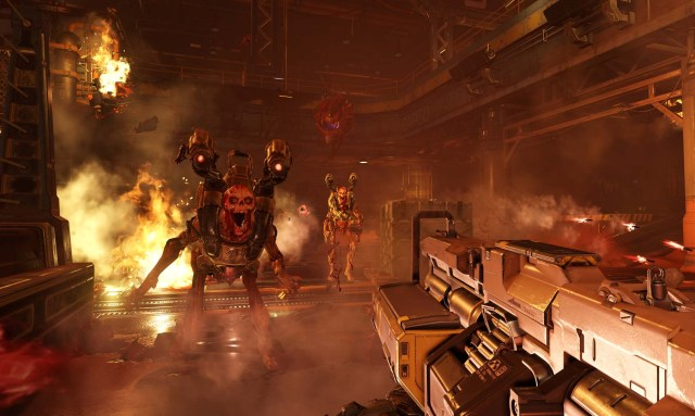 Could we hear about new single player Doom content? It's unlikely but possible.