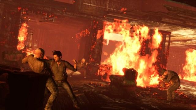 Uncharted 3 Burning