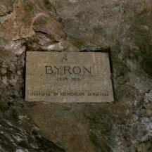 Targa dedicata a Lord Byron