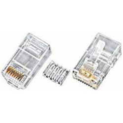 RJ45 Plug CAT6 connector stranded wire round cable
