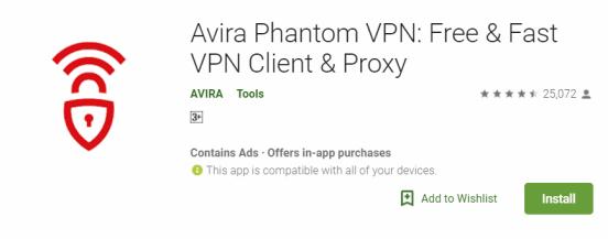 Avira Phantom VPN For Windows