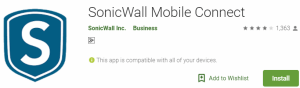 SonicWall Mobile Connect For Windows